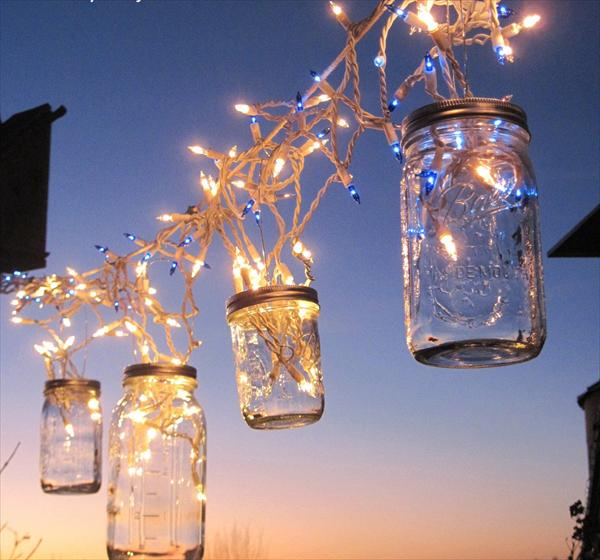 Adding An Outdoor Mason Jar Chandelier Is A Great Way To Add Flare Your Space Here S How Diy