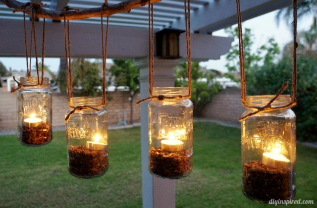 How to make an outdoor mason jar chandelier alexan eav mozeypictures Image collections